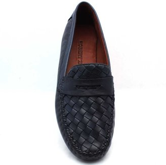 """Robert Zur Petra"""" Navy Woven Leather Driving Loafer"""