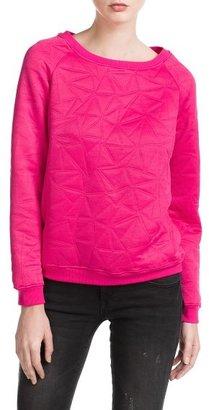 MANGO Outlet Triangle Jacquard Sweatshirt