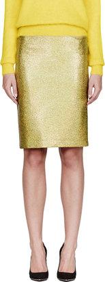 Veronique Branquinho Gold Iridescent Skirt