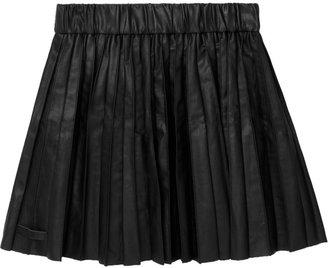Karl Lagerfeld Saatchi pleated faux leather mini skirt