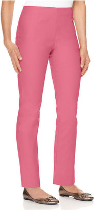 Charter Club Petite Pants, Slim It Up Straight Leg Cropped Trousers