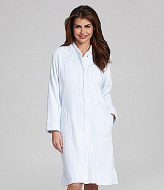 Miss Elaine Cuddle Fleece Stripe Robe