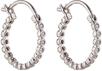 Cathy Waterman Women's White Diamond Circle Hoops