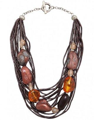 Nouv-Elle Necklace   Beaded Strand Necklace