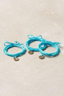 Anthropologie Monogram Wrap Bracelet, Blue