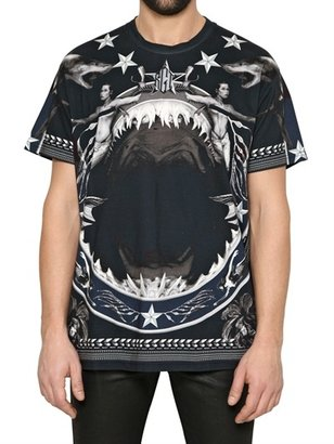 Givenchy Shark Print Oversized Jersey T-Shirt