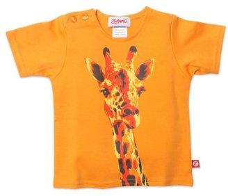 Zutano Unisex-Baby Infant Giraffe Screen Short Sleeve T-Shirt