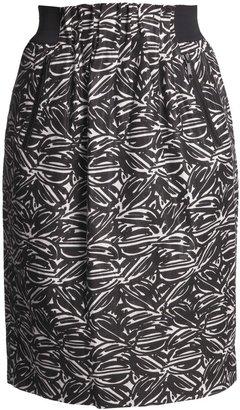 Lafayette 148 New York Jacquard Skirt - Linen-Rich, Paperbag Waist (For Women)