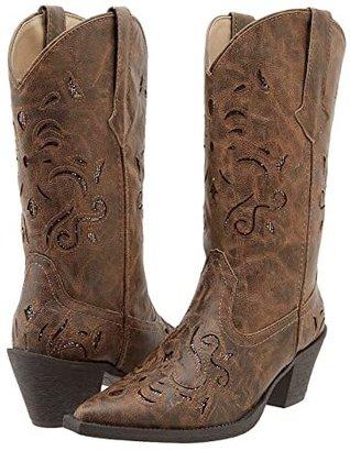 Roper Glitter Underlay Boot (Tan) Women's Boots