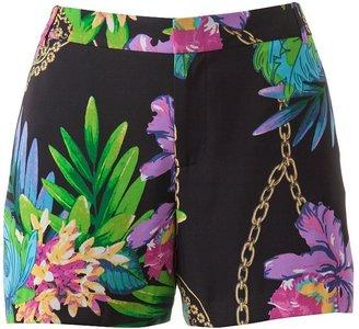 JLO by Jennifer Lopez floral trouser shorts