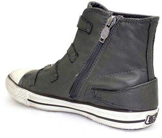 "Ash Virgin"" Stone (Grey) Leather Hi-Top Sneaker"