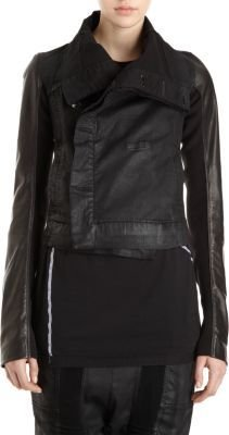 Rick Owens High Neck Cropped Coat
