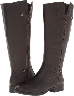 LifeStride X-Zip Wide Shaft (Black Tigris) - Footwear