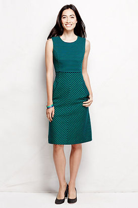 Lands' End Women's Stripe Welt Pocket Sheath Dress