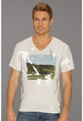 Calvin Klein Jeans Valley Of Time V-Neck Tee (Dawn Blue) - Apparel