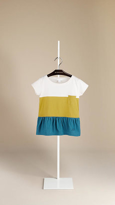 Burberry Colour Block Cotton T-Shirt