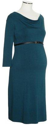 Gap Belted cowlneck dress