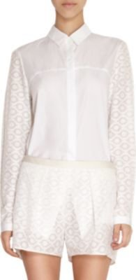 Maiyet Embroidered Sleeve Boyfriend Blouse