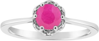 Sterling Birthstone Solitaire Ring