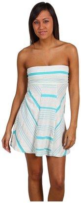 Roxy Trace Elements Tube Dress (Riviera Turquoise Stripe) - Apparel