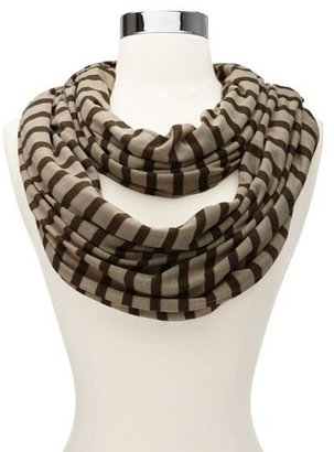 Charlotte Russe Striped Jersey Infinity Scarf