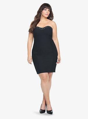 Torrid Black Studded Strapless Dress