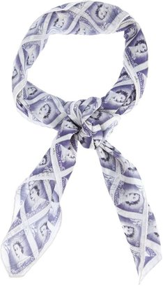 Carven stamp print scarf