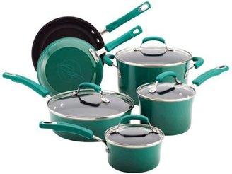 Rachael Ray 10-pc. Nonstick Porcelain Enamel II Cookware Set, Fennel Gradient