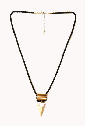 Forever 21 Roped Triangle Necklace