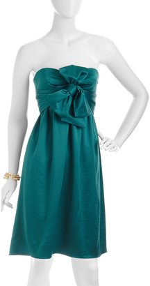 Nicole Miller Strapless Bow Dress, Peacock