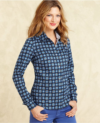 Tommy Hilfiger Shirt, Long-Sleeve Printed Button-Down