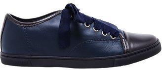 Lanvin Contrasting Leather Trainers