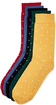 Topman Polka Dot 5 Pack Socks