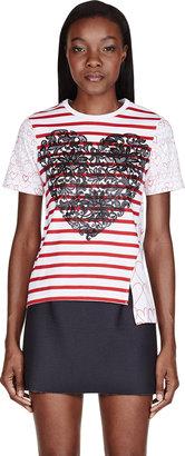 Stella McCartney White Stripe & Heart T-Shirt