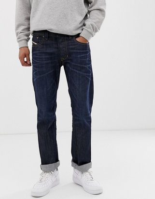Diesel Larkee straight fit jeans in 0806W dark wash