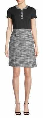 Karl Lagerfeld Paris Classic Tweed A-Line Dress