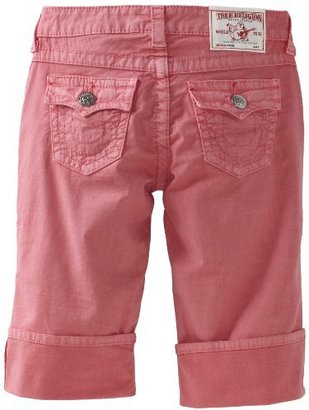 True Religion Girls 7-16 Sophie Capri Roll Up Short