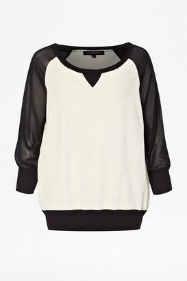 French Connection Vespa Velour Sweatshirt