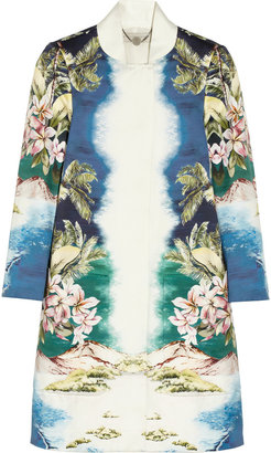 Stella McCartney Maxine printed cotton-sateen coat