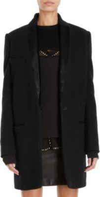 Etoile Isabel Marant Ego Coat With Calf HairTrim