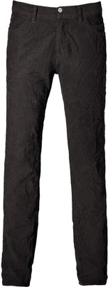 Save Khaki Charcoal five-pocket corduroy pants