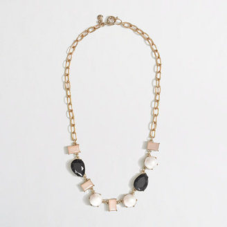 J.Crew Factory Factory pearl and stone necklace