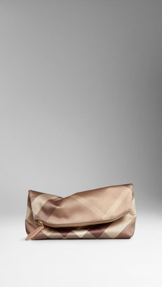 Burberry The Beauty Petal in Check Silk Satin