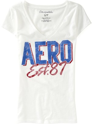 Aeropostale Aero Established 87 V-Neck Graphic T