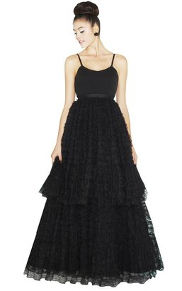 Alice + Olivia Blakley Spaghetti Strap Ball Gown