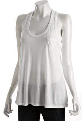 Splendid white jersey pocket racerback tank