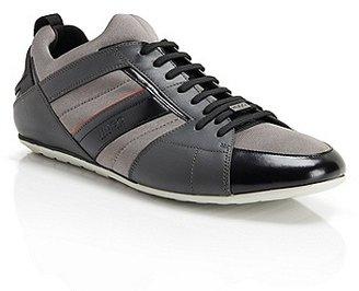 HUGO BOSS Thanso Leather Sneakers - Medium Grey