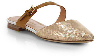 Sigerson Morrison Heidy Crackled Metallic Leather Sandals