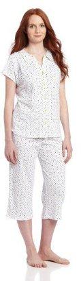 White Orchid Cardigan Dot Pajama Set