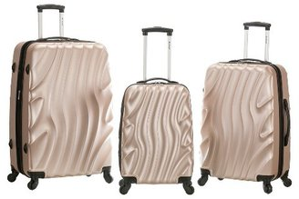 Rockland Melbourne 3pc ABS Luggage Set - Charcoal